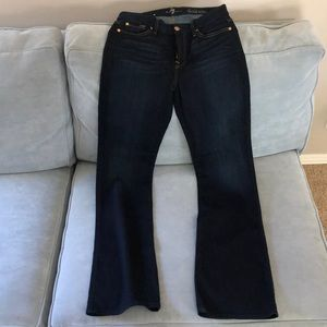 7 for all mankind bootcut/flare jeans size 29